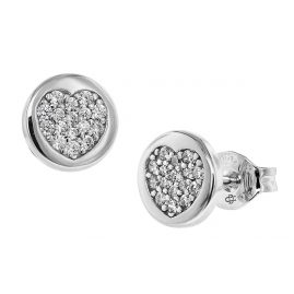 trendor 08536 Silver Cubic Zirconia Stud Earrings
