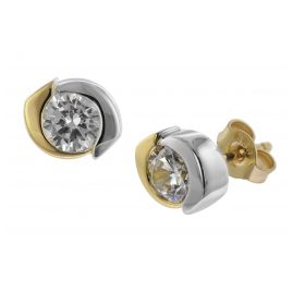 trendor 08706 Ladies' Earrings Two-Colour Gold 333/8 ct