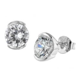 trendor 08764 Silver Earrings with Cubic Zirconias