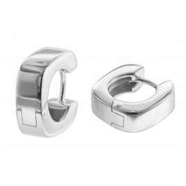 trendor 08765 Ladies' Hoop Earrings Silver 15 mm