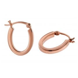 trendor 08783 Silver Earrings 18 mm Rose Gold Plated