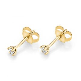 trendor 532650 Earrings with Diamonds 0.10 ct. Gold 585/14K