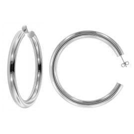 trendor 75027 Silver Hoop Earrings 60 mm
