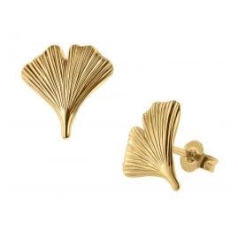 trendor 75079 Ohrringe Ginkgo-Blatt 333 Gold