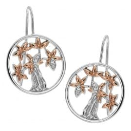 trendor 75507 Ladies' Earrings Tree Of Life Silver 925
