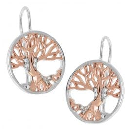 trendor 75509 Ladies' Drop Earrings Tree Of Life Silver 925