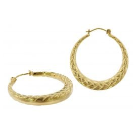 trendor 75788 Hoop Earrings 333 Gold 8 Carat 28 mm