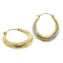 trendor 75789 Creolen Ohrringe 333 Gold 8 Karat Bicolor 22 mm
