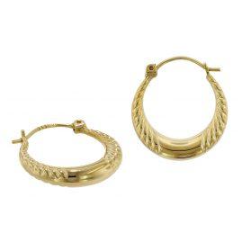 trendor 75791 Hoop Earrings 333 Gold 8 Carat 17 mm