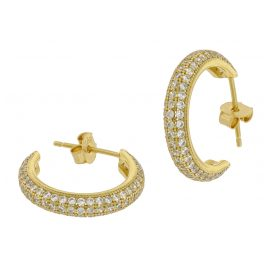 trendor 75846 Hoop Earrings Gold Plated Silver Ø 20 mm