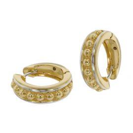 trendor 39064 Women's Hoop Earrings Gold 333 Two-Colour