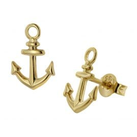 trendor 39571 Women's Stud Earrings Anchor Gold 333 / 8 Carat