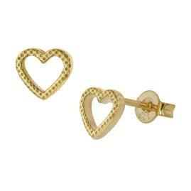 trendor 51017 Ohrringe Herzchen Ohrstecker Gold 333 / 8 Karat