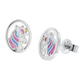 trendor 51039 M��dchen-Ohrringe Einhorn Ohrstecker 925 Silber