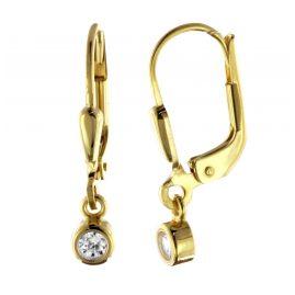 trendor 51095 Damen-Ohrringe Ohrhänger mit Zirkonia Gold 333 / 8 K