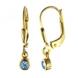 trendor 51097 Ohrringe Ohrhänger mit Blauem Zirkonia Gold 333 / 8 K
