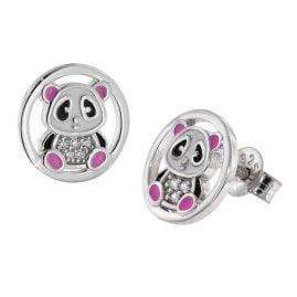 trendor 51041 Mädchen-Ohrringe Pandabär Ohrstecker 925 Silber