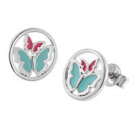 trendor 51043 Ohrringe für Mädchen 925 Silber Schmetterlinge