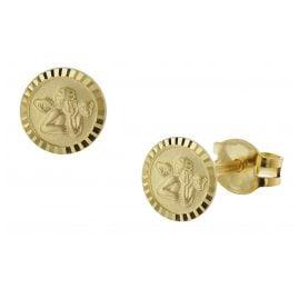 trendor 51045 Girls Stud Earrings Angel 333 / 8K Gold