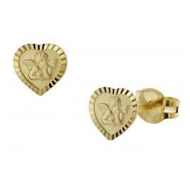 trendor 51046 Ohrringe für Mädchen Gold 333 / 8K Amor-Herz