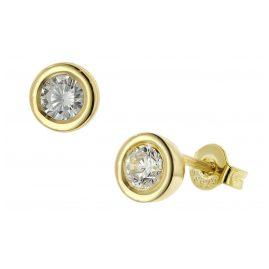 trendor 51371 Ohrringe Gold 333 / 8K Zirkonia Ohrstecker