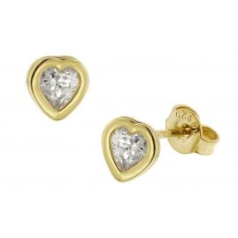 trendor 51370 Ohrringe Gold 333 / 8K Zirkonia Ohrstecker Herz