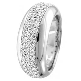 trendor 64697 Silber Ring mit Zirkonias