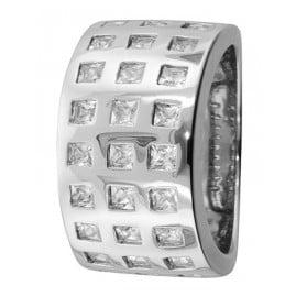 trendor 67162 Silver Ring with Zirconias