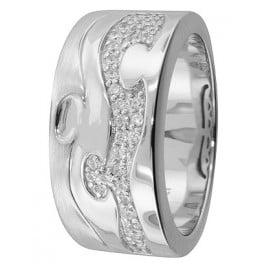 trendor 67360 Silver Ring Arabesk