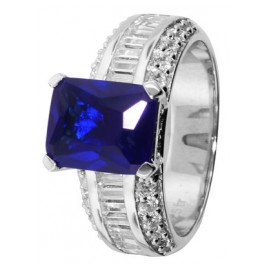 trendor 68268 Silver Ring Royal Blue