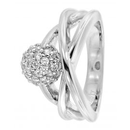 trendor 68565 Silver Ladies' Ring with Cubic Zirconia