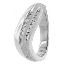 trendor 80425 Silver Ladies' Ring with Cubic Zirconia