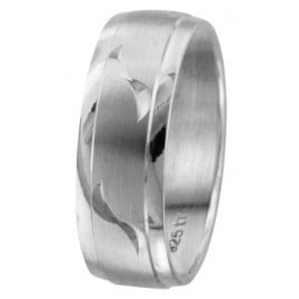 trendor 65496 Damenring Silber 925 Breite 7 mm