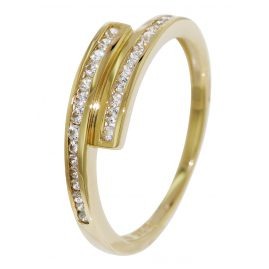 trendor 51627 Gold Zirkonia-Ring