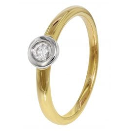 trendor 35254 Diamond Gold Ring