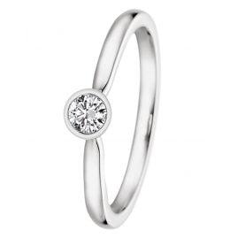 trendor 532484 Verlobungsring 585 Weißgold mit Diamant 0,15 ct