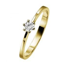 trendor 532467 Damen Goldring mit Diamant