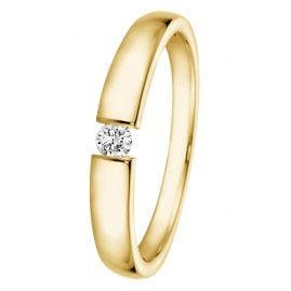 trendor 532506 Ring mit Diamant 0,05 ct Gold 585/14K