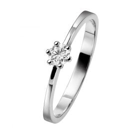 trendor 532453 White Gold Solitaire Ring