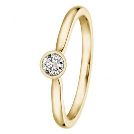 trendor 532494 Ladies Ring Gold 585 with Diamond 0,15 ct