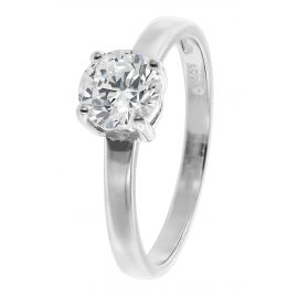 trendor 08701 Ladies' Ring Cubic Zirconia White Gold 333/8 ct
