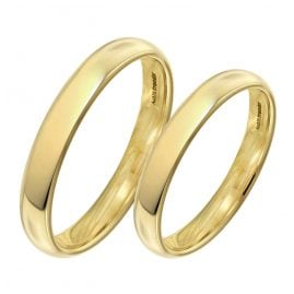 trendor 1001 Wedding Rings Pair 375 Gold Polished