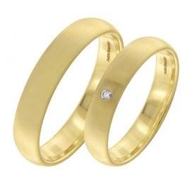 trendor 7002 Eheringe Paar Gold 375 Trauring-Set Diamant