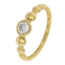 trendor 39356 Verlobungsring Gold 333 / 8 Karat Damenring mit Zirkonia