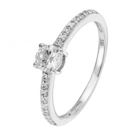 trendor 39362 Women's Engagement Ring White Gold 333 (8 ct) 19 Cubic Zirconias