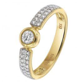 trendor 39392 Verlobungsring Gold 333 / 8 Karat Damenring mit 33 Zirkonias