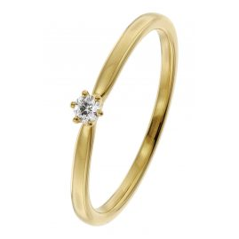 trendor 26932.005GG Damen Diamant-Ring 0,05 ct Gelbgold 585/14 Kt.