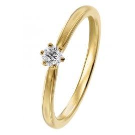trendor 26932.015GG Damenring mit Diamant 0,15 ct Gelbgold 585/14 Kt.