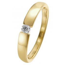 trendor 26977.010GG Damen-Diamantring 0,10 ct Gelbgold 585/14 Kt.