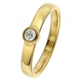 trendor 26568.015GG Damenring mit Diamant 0,15 ct Gold 585 / 14 Kt.